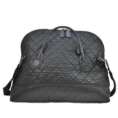 Chanel Black Large Unisex Weekender CarryAll Travel Shoulder Bag W. Accessories