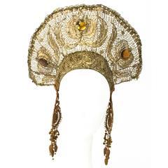 Edwardian Gold Headpiece