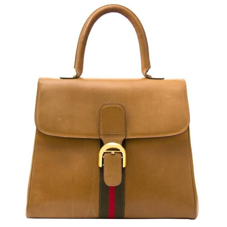 Delvaux Brillant Original GM Caramel