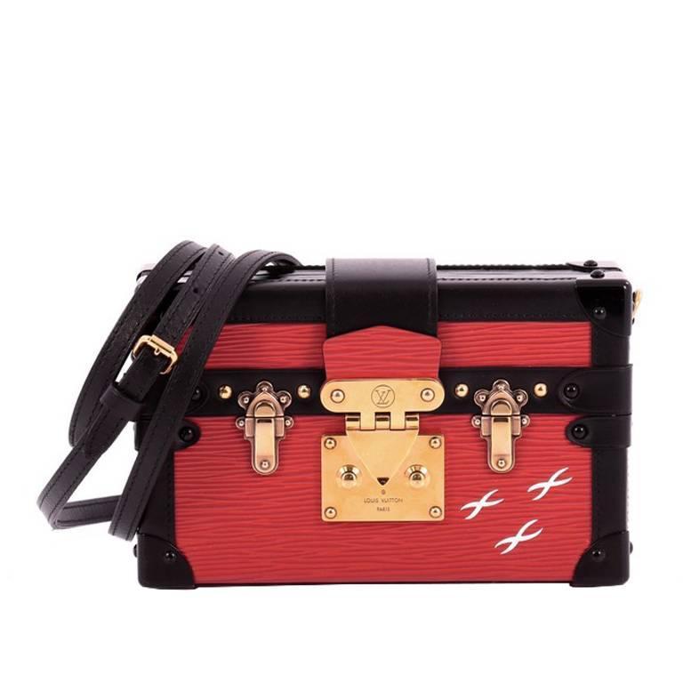 Louis Vuitton Petite Malle Handbag Epi Leather at 1stdibs