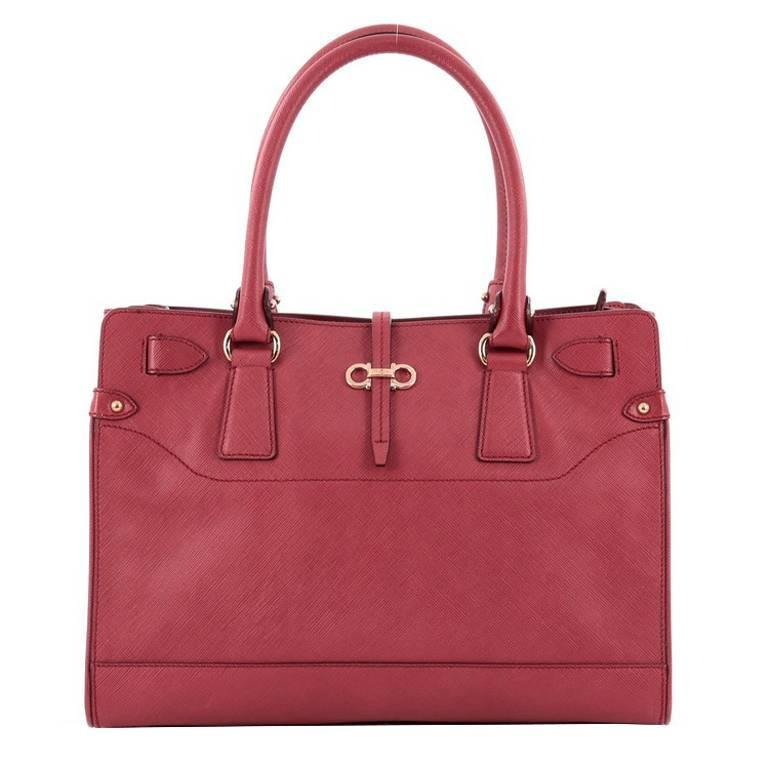 Designers Salvatore Ferragamo Textured Tote Bag For Women On Sale