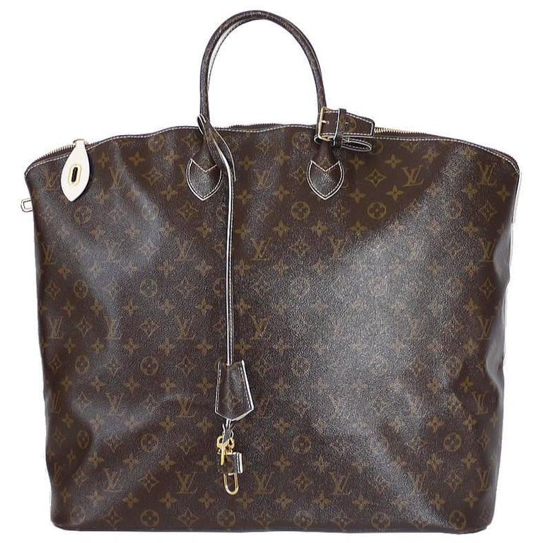 Louis Vuitton Shiny Monogram Fetish Lockit Voyage Travel Bag