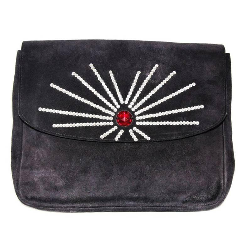 Gorgeous and a collector piece of Sonia Rykiel clutch 80s For Sale