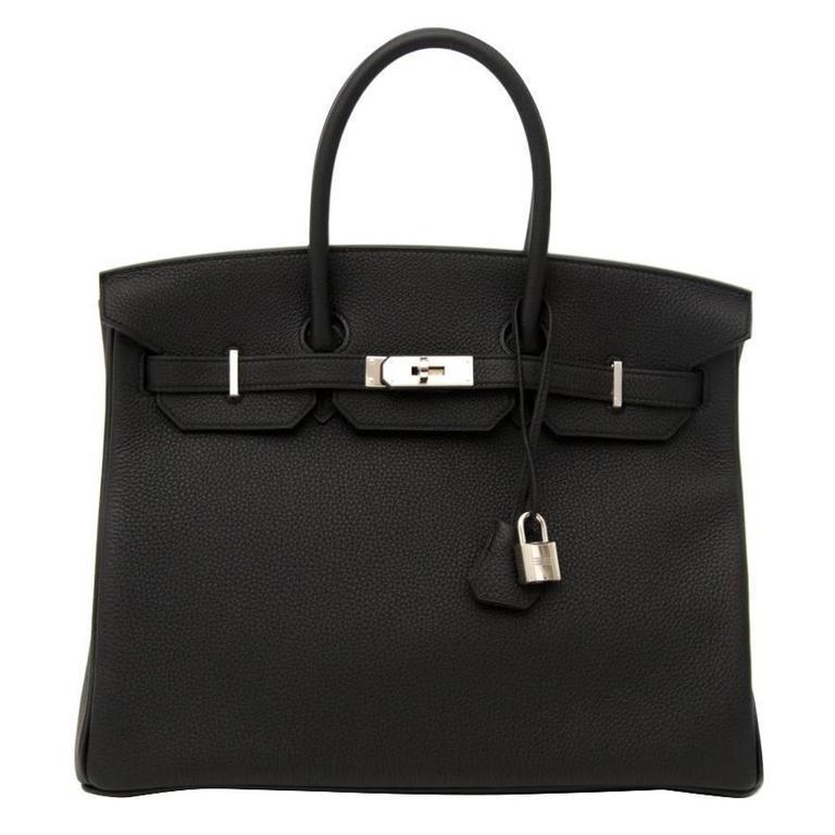 Brand New Hermes Birkin Black Togo 35 Phw For