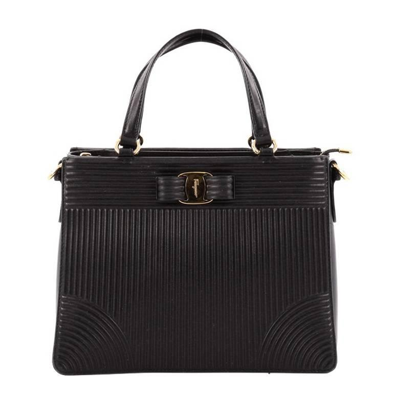 03d35e78bff9 Salvatore Ferragamo Tracy Handbag Quilted Leather at 1stdibs