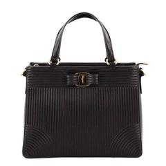 Salvatore Ferragamo Tracy Handbag Quilted Leather