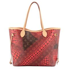 Louis Vuitton Neverfull Tote Limited Edition Monogram Canvas Kusama Waves