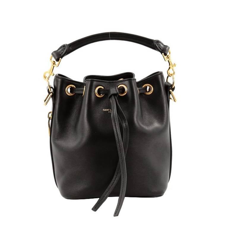 1e1dba8e0f7 Saint Laurent Emmanuelle Bucket Bag Leather Small at 1stdibs