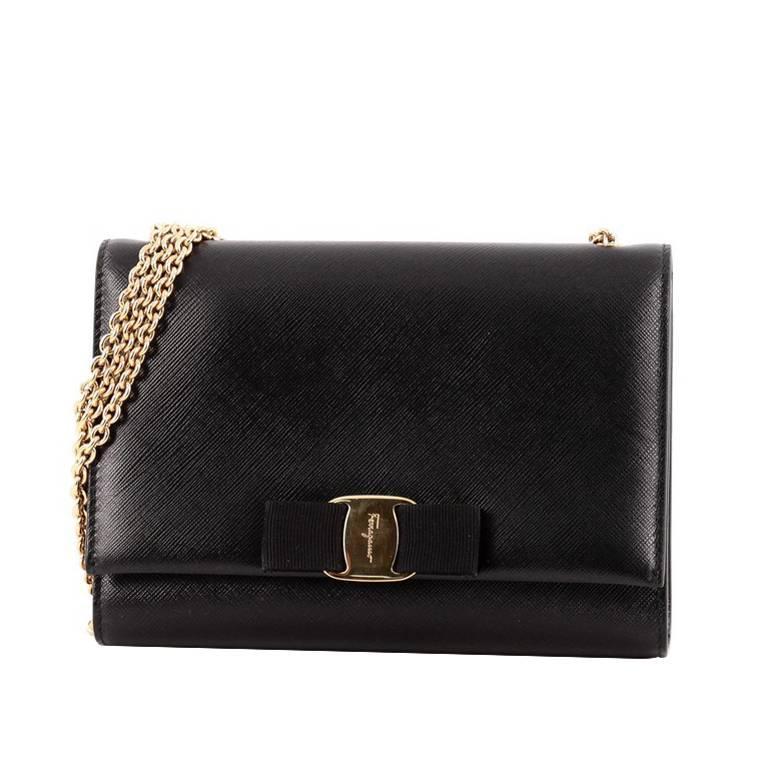 b5018013be93 Salvatore Ferragamo Ginny Crossbody Bag Saffiano Leather Small For Sale