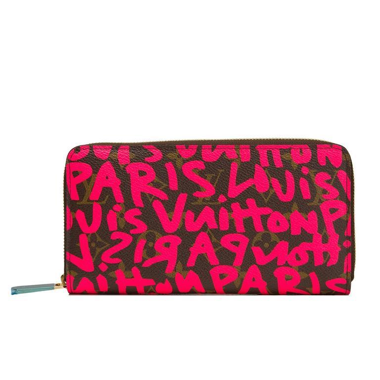 Louis Vuitton Stephen Sprouse Graffiti Fuchsia Zippy Wallet For Sale