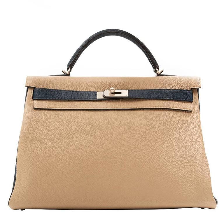 Hermes Bi-tone Kelly 40cm Handbag 1