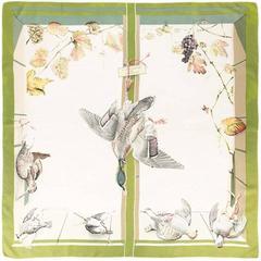 Hermes 'A la fenêtre du chasseur' scarf