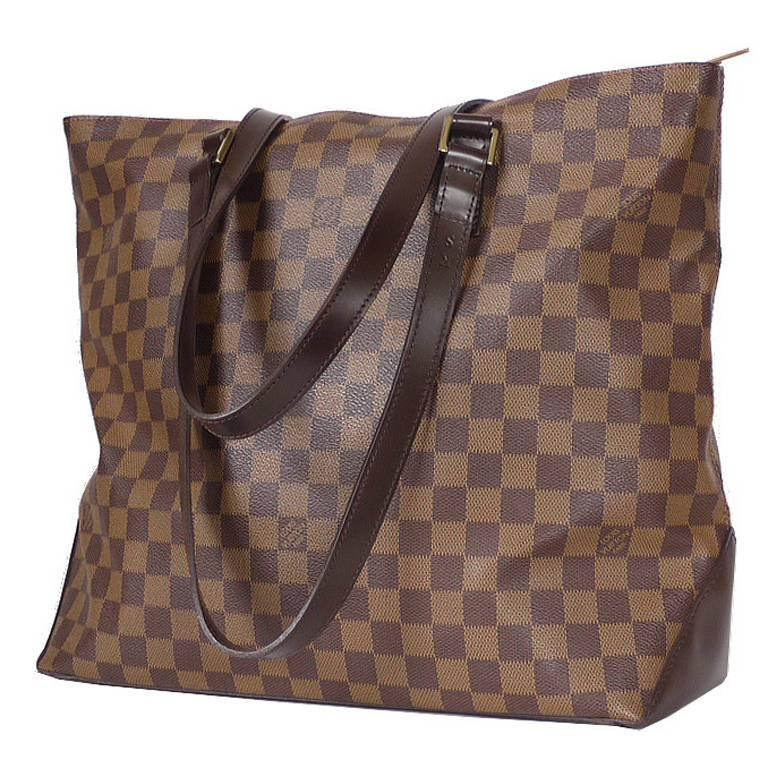 Louis Vuitton Damier Cabas Mezzo Shopping Tote Bag Special Order For Sale