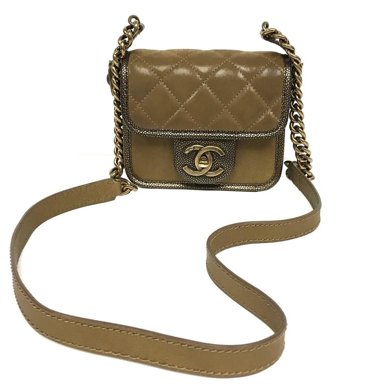 Chanel Back To School 2 55 Flap Mini Iridescent Brown