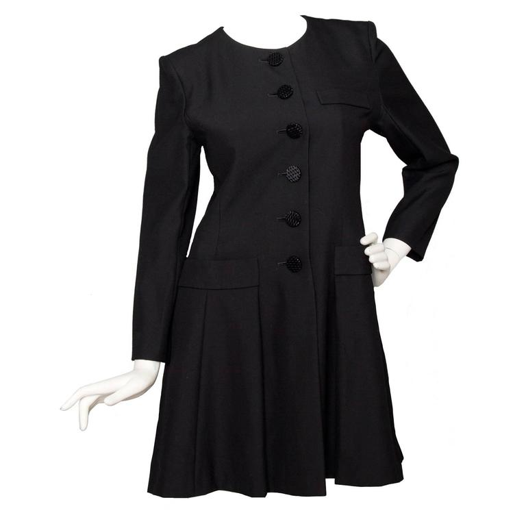 Black Yves Saint Laurent Wool Dress