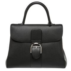 Delvaux Black Leather Brillant GM Satchel Handbag