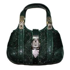 Limited Edition! Gorgeous Gucci GG Monogram Beaded Crystal & Lizard Skin Bag