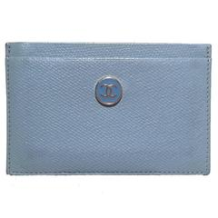 Chanel Blue Leather Credit Card ID Wallet