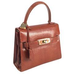 Finesse la Modele Vintage Lizard Hand Bag
