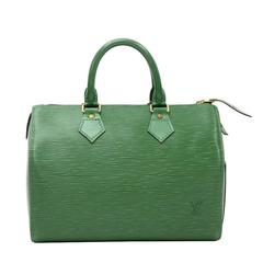 Louis Vuitton Speedy 25 Green Epi Leather City Hand Bag
