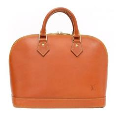 Limited Louis Vuitton Alma Brown Nomade Leather Hand Bag