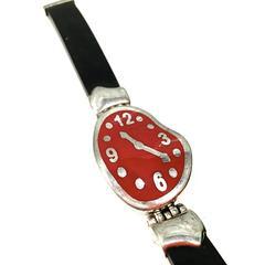 Iconic Salvador Dali Melting Clock Bracelet - Menegatti - Sterling Silver