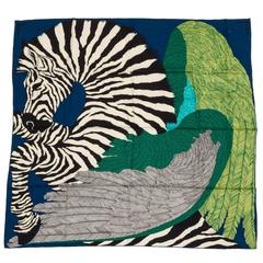 "New in Box, Hermès Zebra 55"" Cashmere Shawl, Alice Shirley"