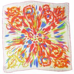 Gianni Versace Silk Tie Dye Scarf - sale