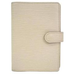 Louis Vuitton Ivory Men's Women's Leather Travel Agenda Planner Notebook Cover