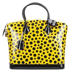 2010s Louis Vuitton Vernis Leather Dots Infinity Juane Yayoi Kusama Lockit MM