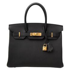 Brand New Hermes Birkin 30 Black Epsom GHW