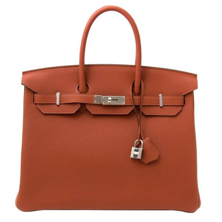 b5d47eba4237 Brand New Hermès Birkin 35 Togo Cuivre PHW For Sale at 1stdibs