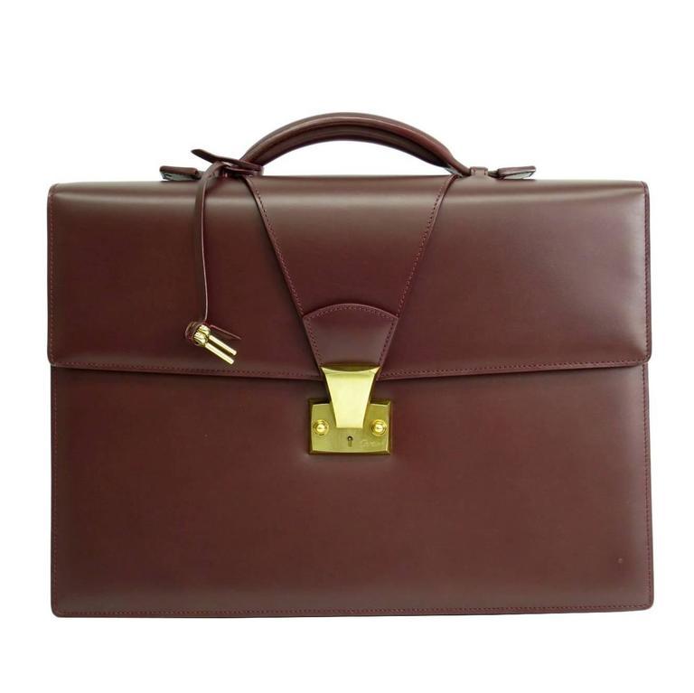 1stdibs Mcm Munchen Black Logo Canvas & Leather Briefcase Attache Hard Sided Bag BpVwNk