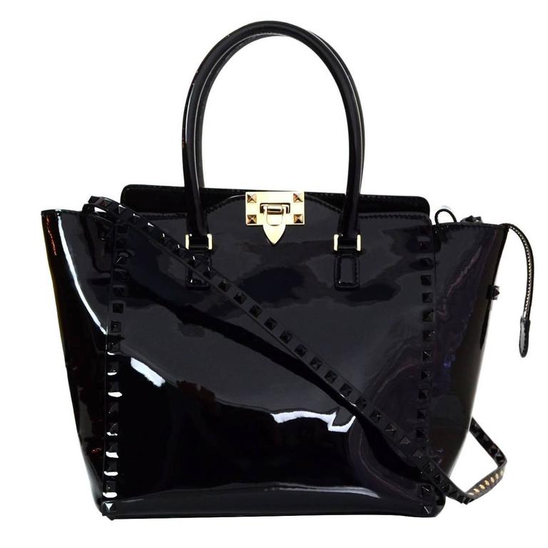 Valentino Rockstud Four Corner Tote Leather Large qYGMe9GOS