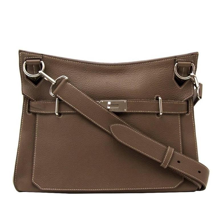 Hermès Taupe Jypsiere 34 Bag