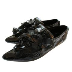 Issey Miyake Black Tassel Shoes With Box Avant Garde