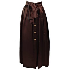 ESCADA Brown Silk Ball Skirt Large Bow Size 36