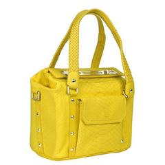 New VERSACE Yellow Python Handbag