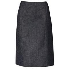 Blue Vintage Chanel Denim Skirt