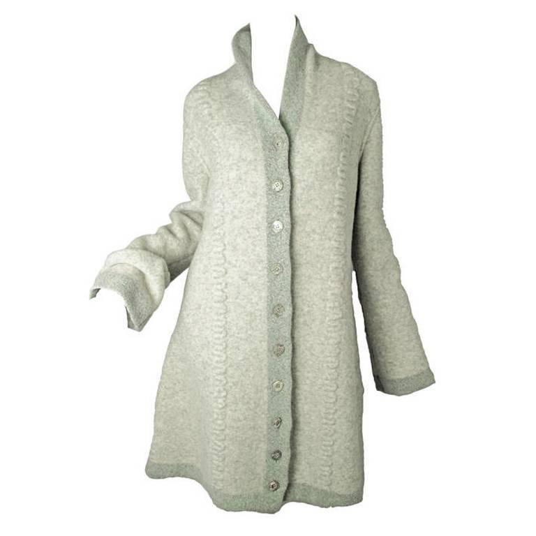 Rare 1990s Alaia Sweater Coat - sale For Sale