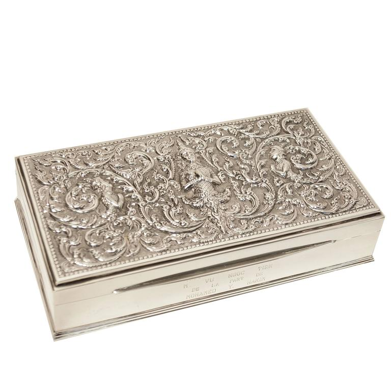 Early 20th Century Sterling Silver Alex & Co. Thepphanom Repousse Box