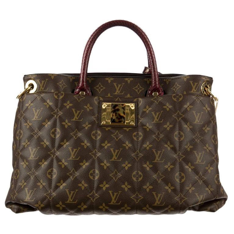 Louis Vuitton Rare Ltd. Edition Monogram Snake Ostrich Travel Shoulder Tote  Bag at 1stdibs 225b75b89a601