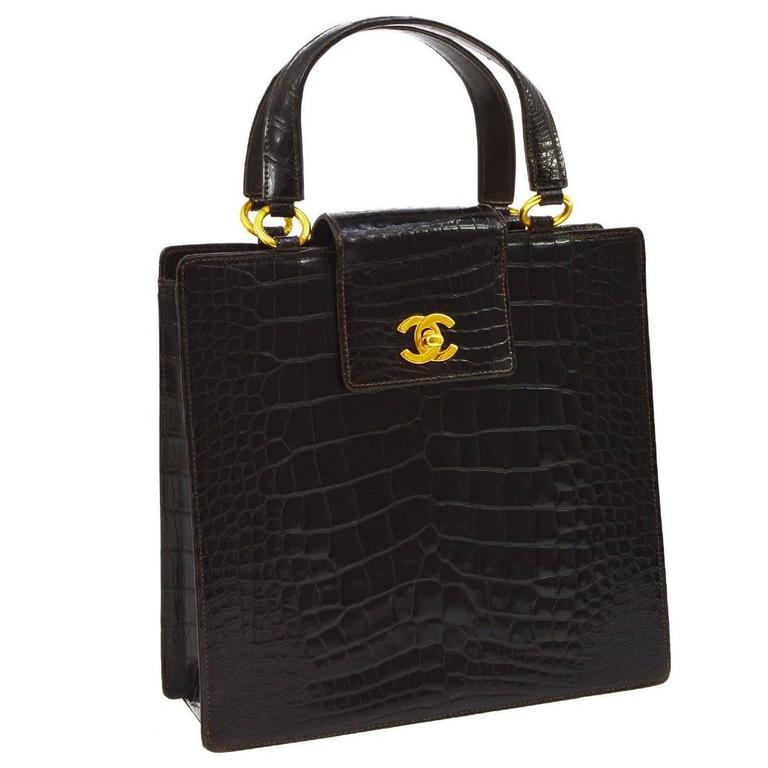 chanel vintage croc handbag Trainee