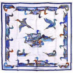 Magnificent Hermes Mallard (Ducks) Silk Scarf