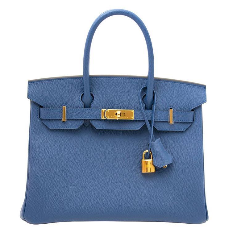 Brand New Hermes Birkin 30 Bleu Agate Epsom GHW at 1stdibs 5fcc7f31c