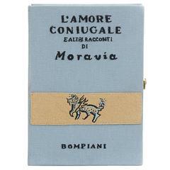 Olympia Le-Tan Blue Fabric L'Amore Coniugale Book Clutch, circa 2015