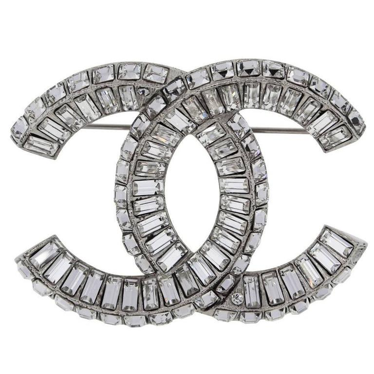 chanel image fashion diamond love product of accessories silver pin brooch