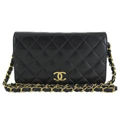 Chanel 3way Black Lambskin Single Flap Evening Shoulder Bag