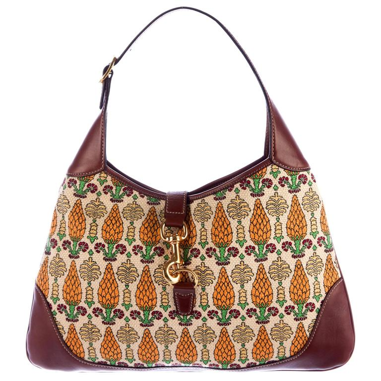 ea229a348c1a Gucci Printed Canvas Pigna Pineapple Ananas Shoulder Bag For Sale. Beautiful  Gucci bag Canvas fabric with leather trimming Famous Pigna Print Inner  pocket ...