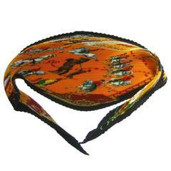 Hermès Escuela Andaluza Pleated scarf in Box